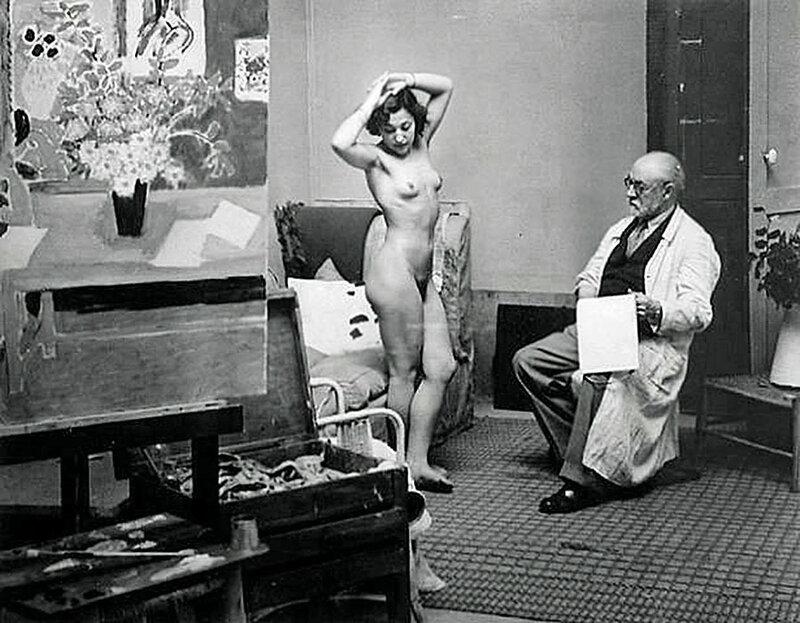 Матисс и натурщица (модель) фотограф Брассай Венгрия_Франция