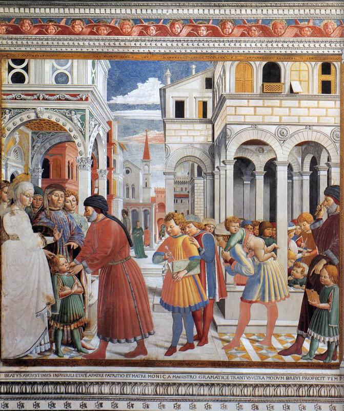 002-Св.Августин поступает в школу в Тагасте (Б.Гоццоли).jpg