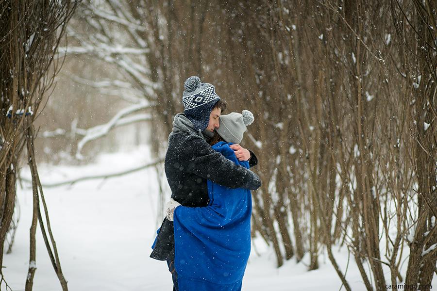 Лавстори фотосессия в парке зимой город Иваново