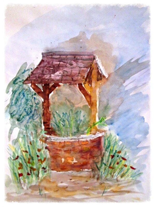 учебный рисунок глава Сад