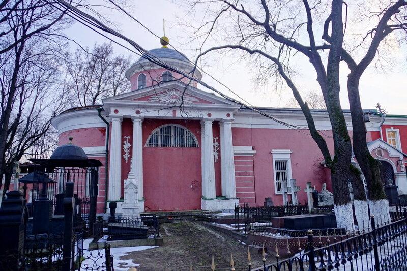 Больничная церковь Михаила Архангела (усыпальница кн. Голицыных) Донского монастыря, Москва