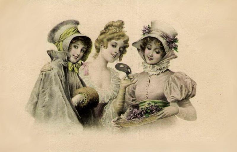 Старые открытки белый