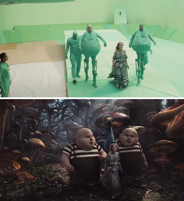 Хромакей. До и после наложения эффектов в кино
