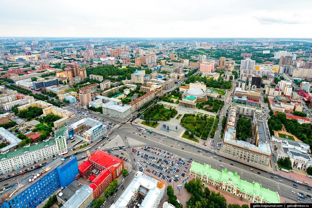 Новосибирск с вертолёта. Лето 2015