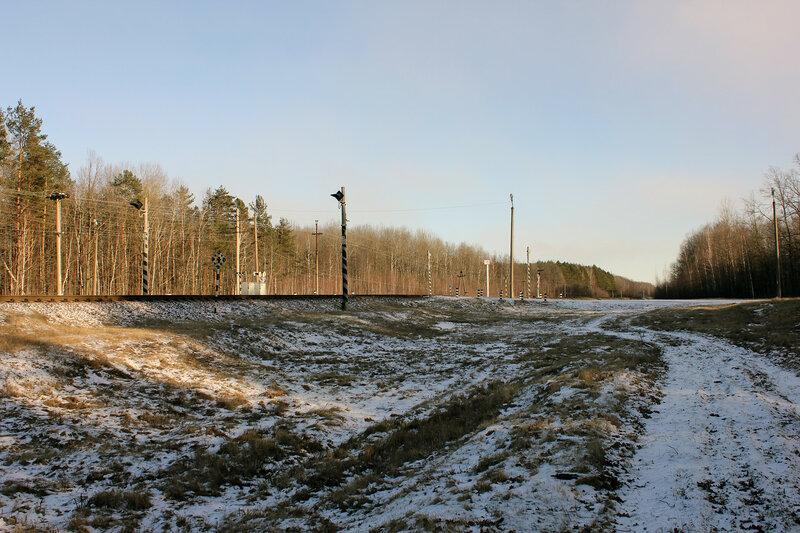 Переезд на перегоне Якимовка - Прибор
