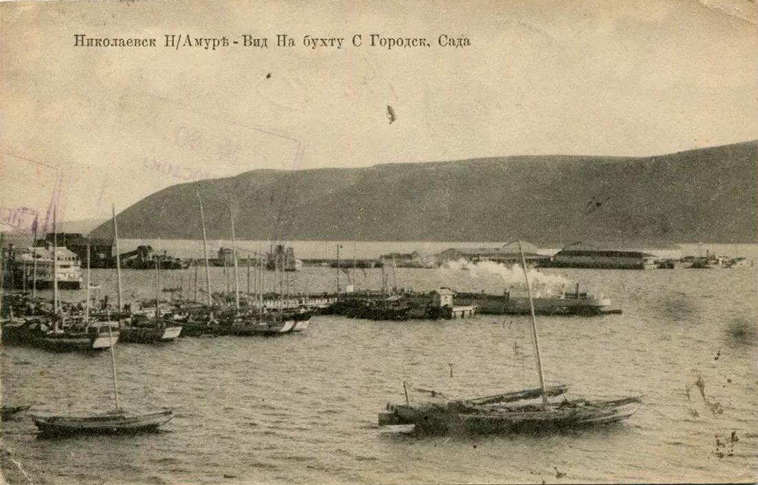 Вид на бухту с Городского сада