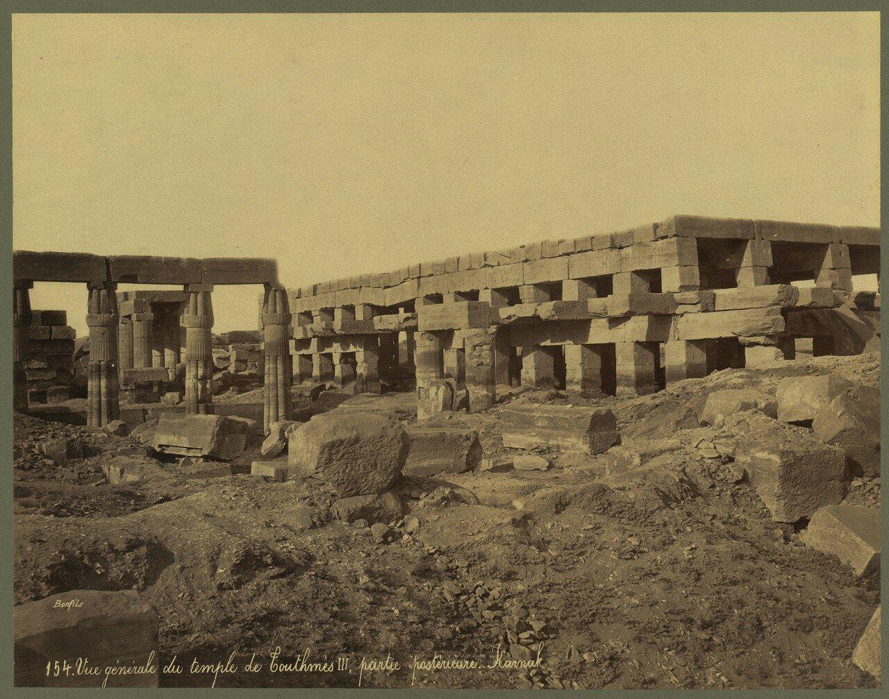 Карнак (Фивы). Общий вид храма Тутмоса III. 1867