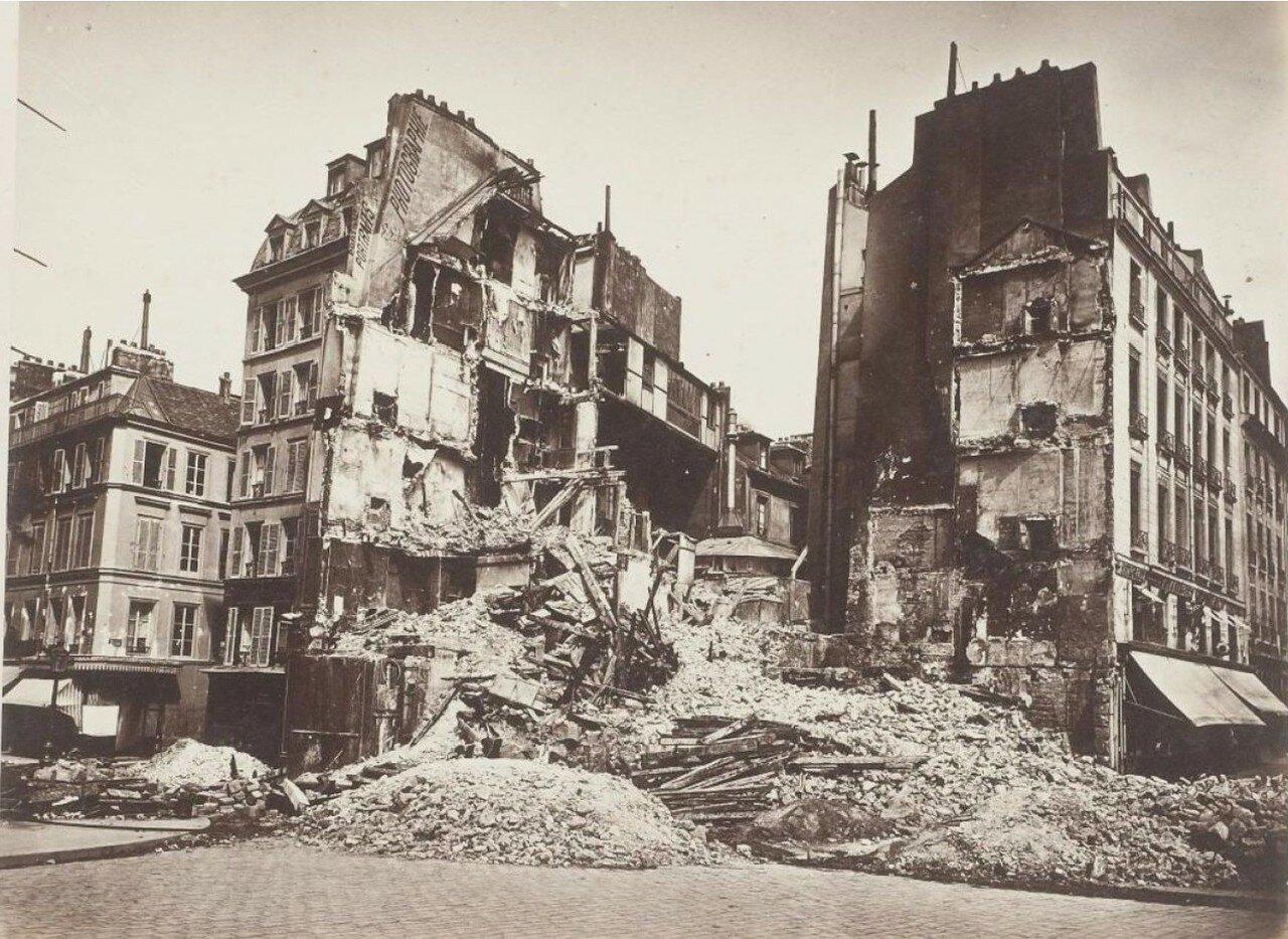 1871. Площадь Бастилии в огне во время Парижской Коммуны