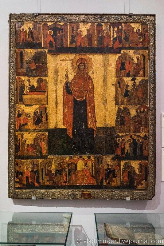 Икона «Великомученица Параскева Пятница», с клеймами жития. Псков. Конец XV – начало XVI в.