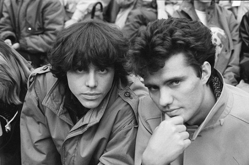 024 Дмитрий Ревякин и Михаил Борзыкин на фестивале в Подольске, сентябрь 1987 г.jpg