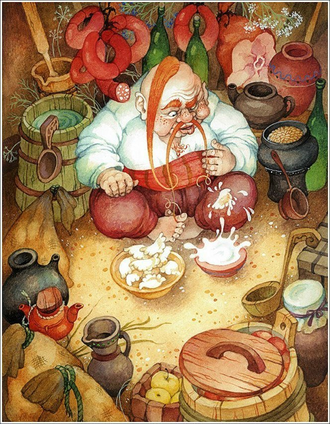 """Гоголевская """"Ночь перед Рождеством"""". Иллюстратор Ольга Ионайтис"""