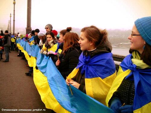 день соборности украины киев мост патона 2015 год