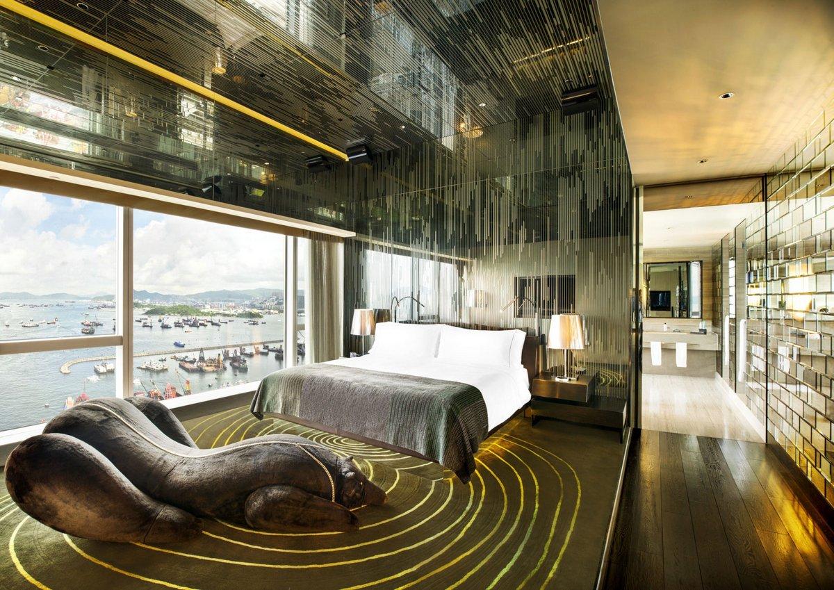W Hong Kong, лучшие отели гонконга, бассейн на крыше отеля, бассейн с видом на город, бассейн на крыше небоскреба, оформление отеля
