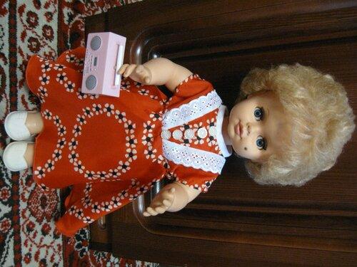красное платье для куклы