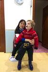 Нина и Сава в зале ЛФК