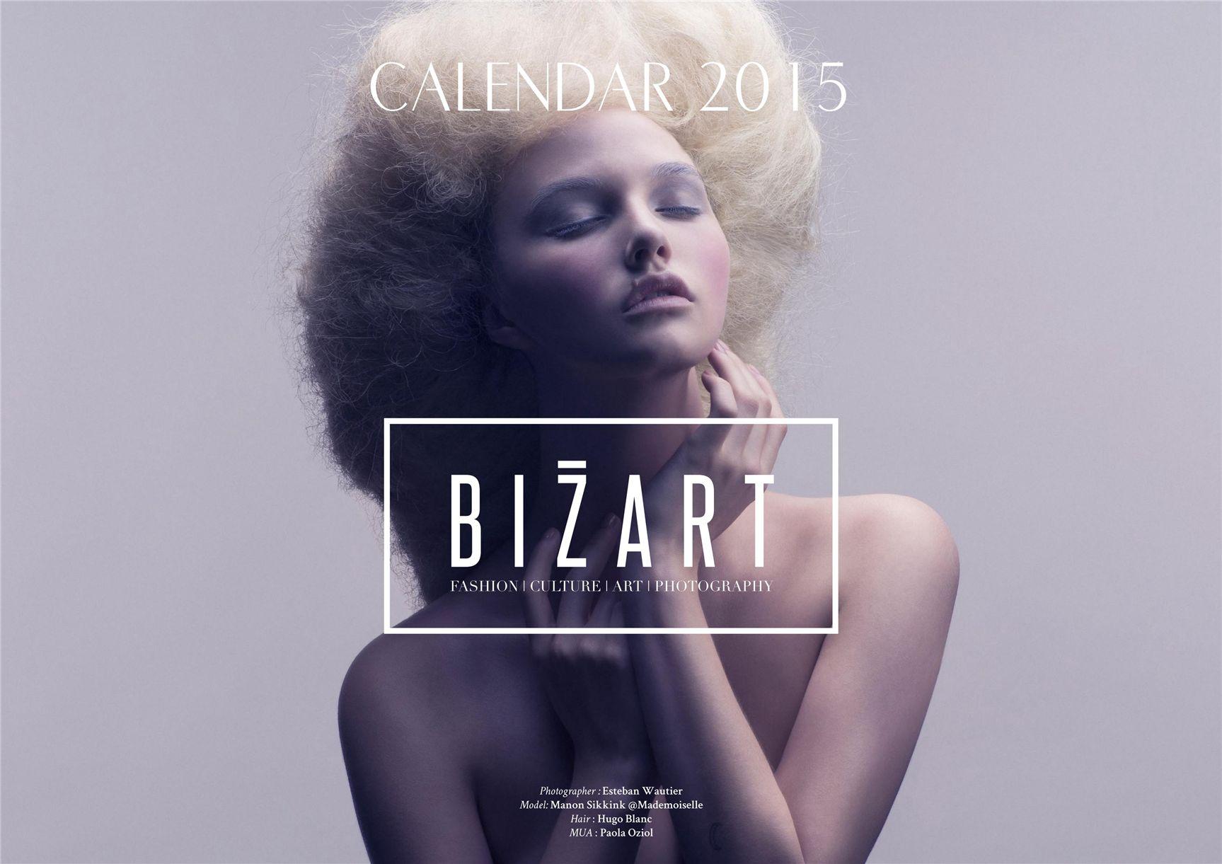 модно-артистический календарь журнала Bizart 2015 calendar - Manon Sikkink by Esteban Wautier
