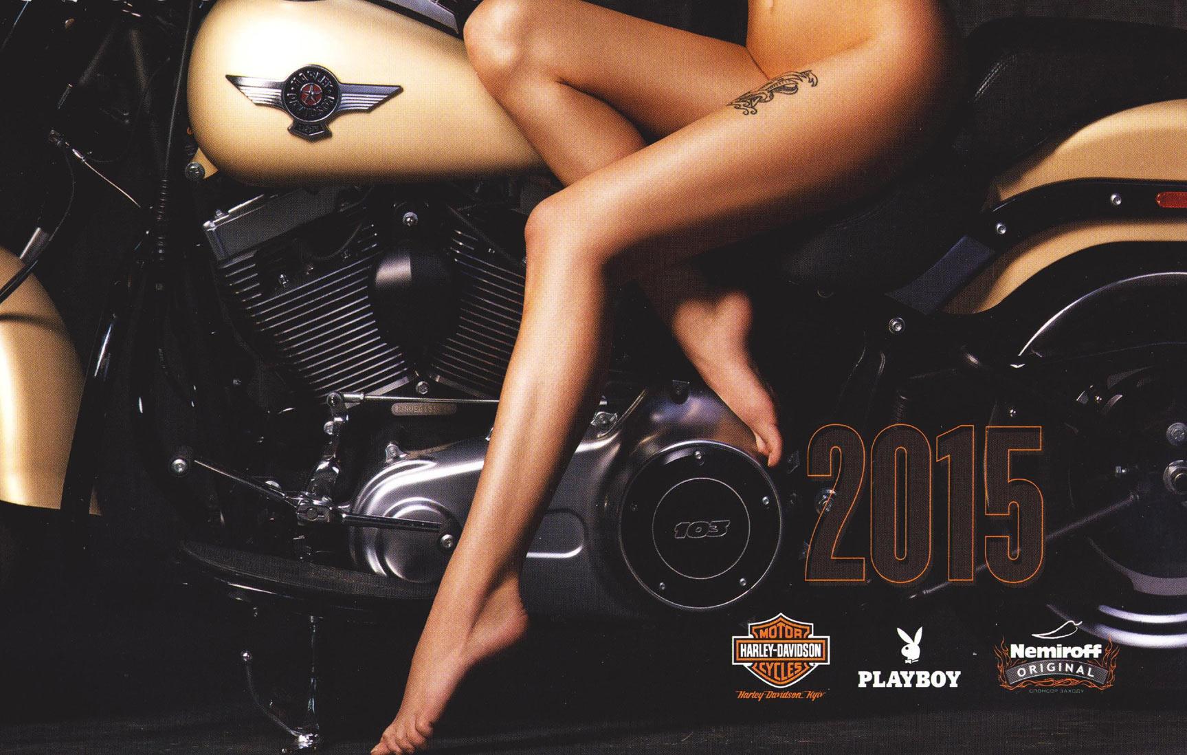 Календарь Playboy Украина - Harley-Davidson - Nemiroff 2015