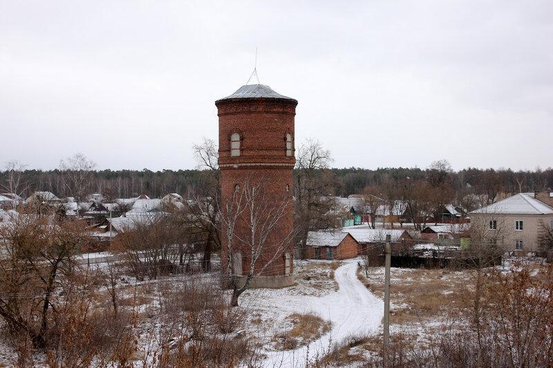 Водонапорная башня на станции Новобелицкая