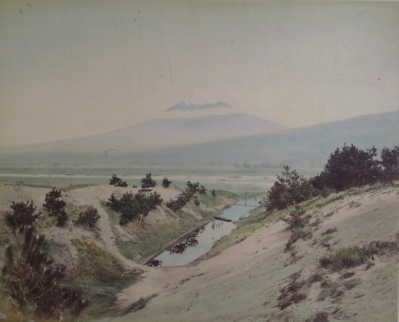 Вид на гору Фудзи из Касивабара
