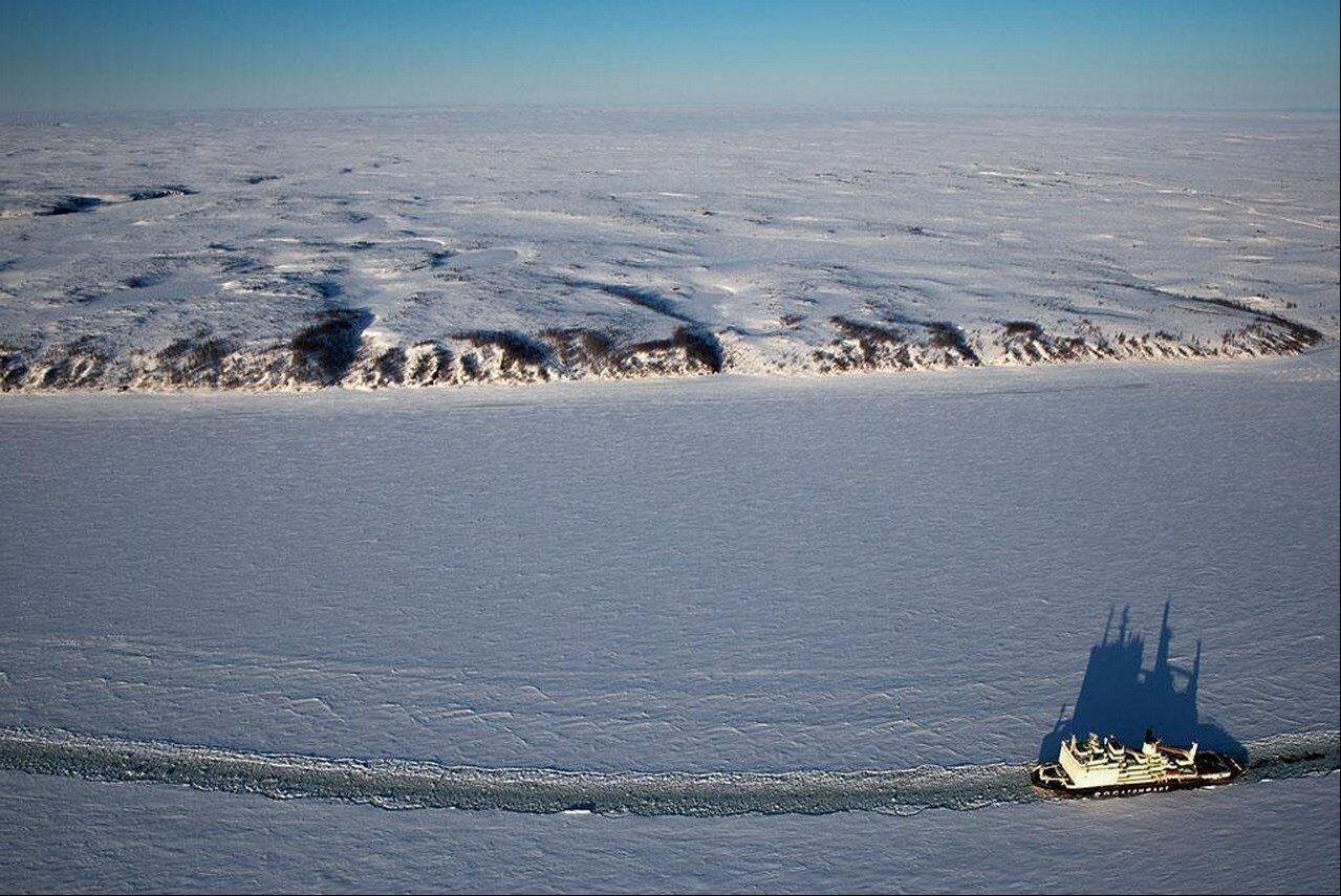 03. Атомный ледокол из Росатомфлота. Карское море
