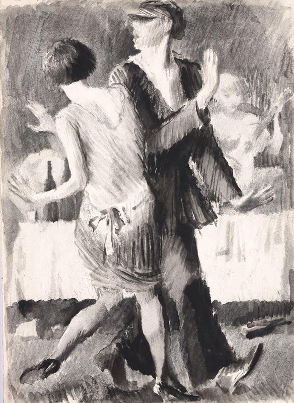 Vladimir Lebedev, Dance, 1927.jpg
