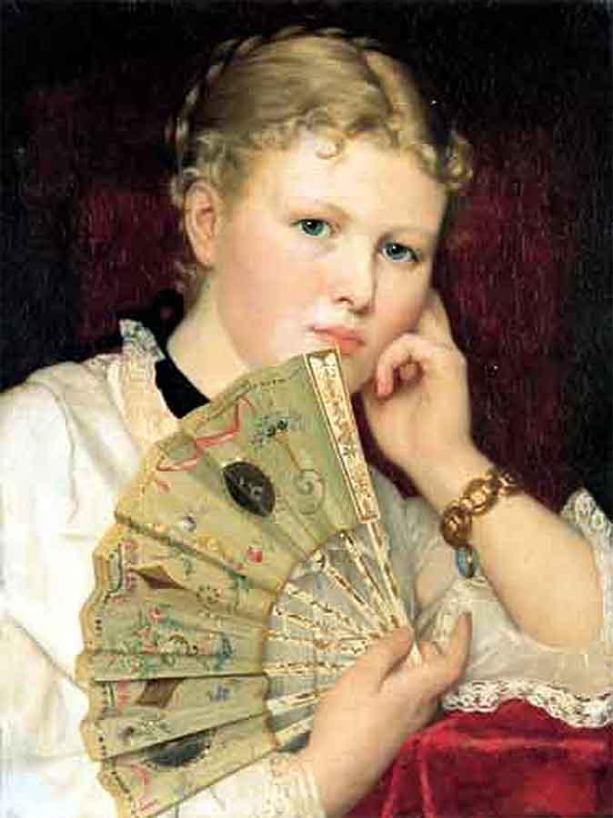 Девушка с веером Чахурский, Владислав(1850-1911)