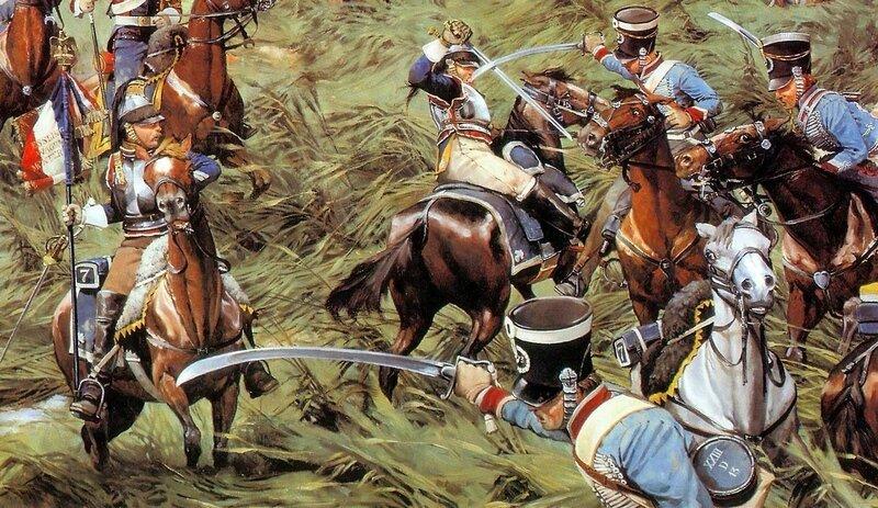 1815 Waterloo Light Dragoons vs Cuirassiers - Keith Rocco.jpg
