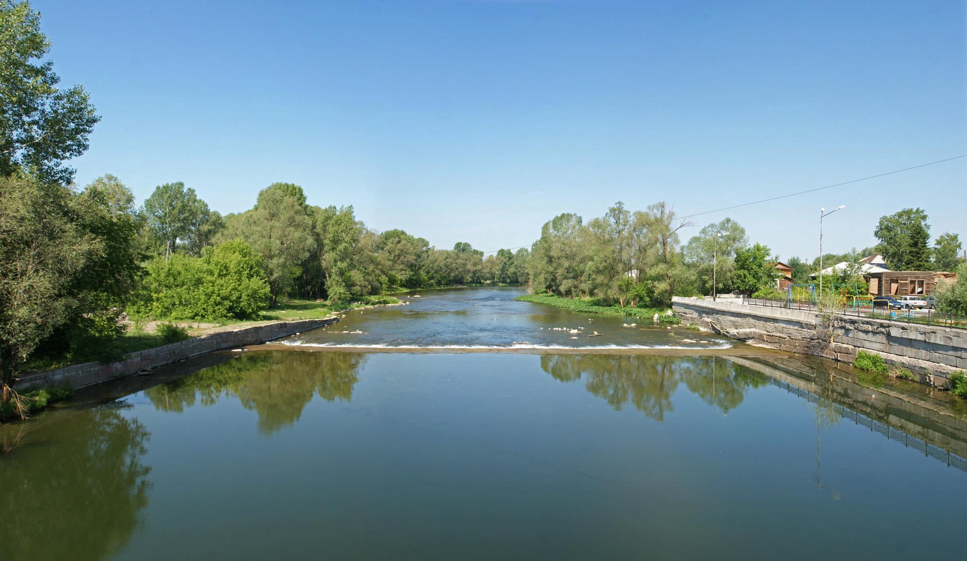 Водные перекаты на реке Сим (02.02.2015)