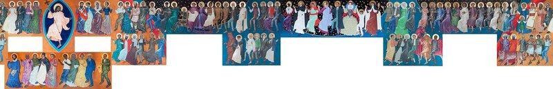 Танцующие святые Dancing Saints Icon