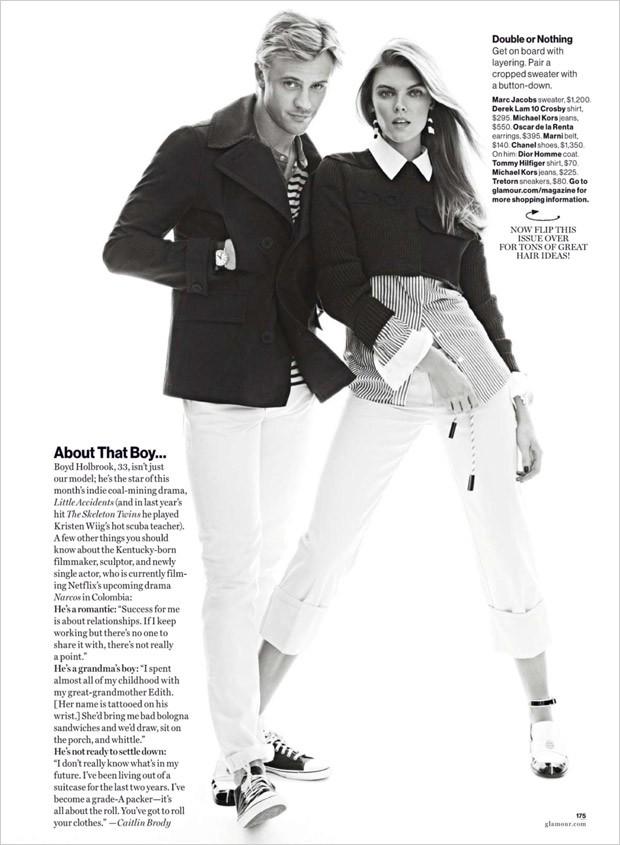 Марина Линчук (Maryna Linchuk) в журнале American Glamour