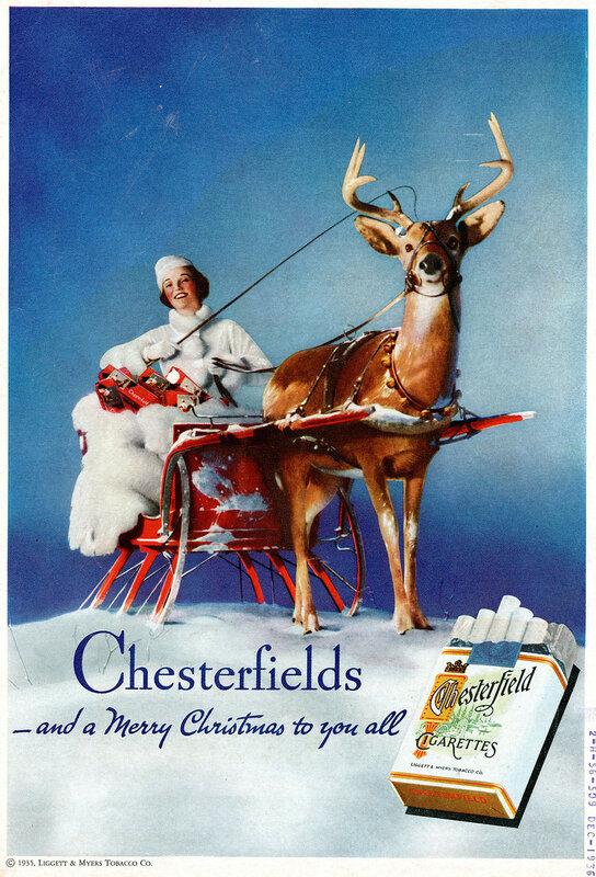 Реклама сигарет 1917-1960