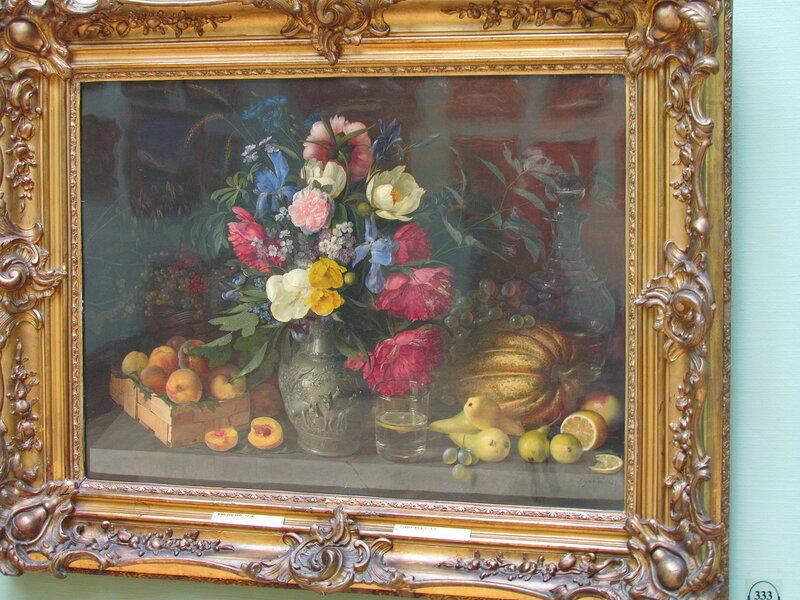 Хруцкий Иван Фомич.  Цветы и плоды. 1839. Холст, масло. 65,9 x 88,8