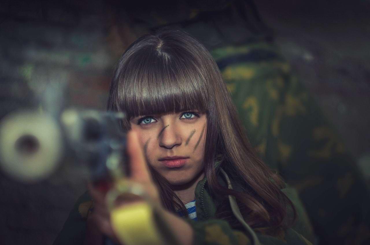 Боевые подруги: Фотосессия в стиле Military - лазертаг клуб - Отряд 61 - (Ростов-на-Дону) (11)