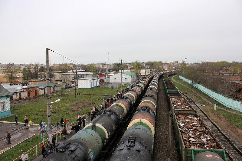 Станция Шаховская, вид на Москву