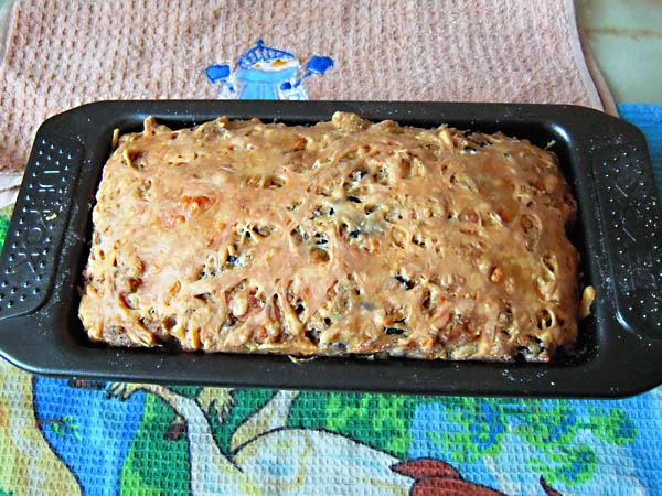 Кекс с маслинами и сыром
