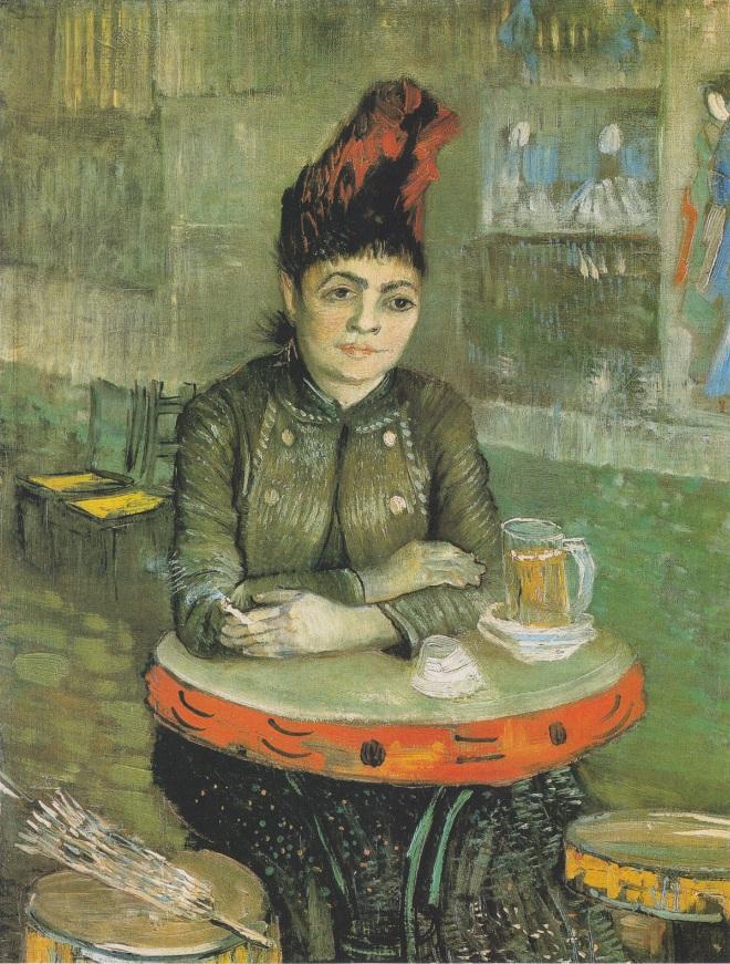 Агостина Сегатори сидящая в кафе du Tambourin_ Париж, февраль-март 1887_Ван Гог (1853-1890)Х.jpg