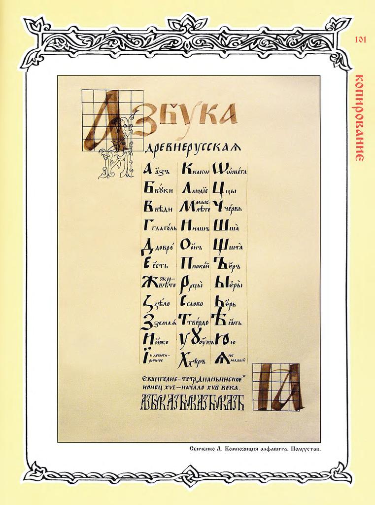Азбука старорусская