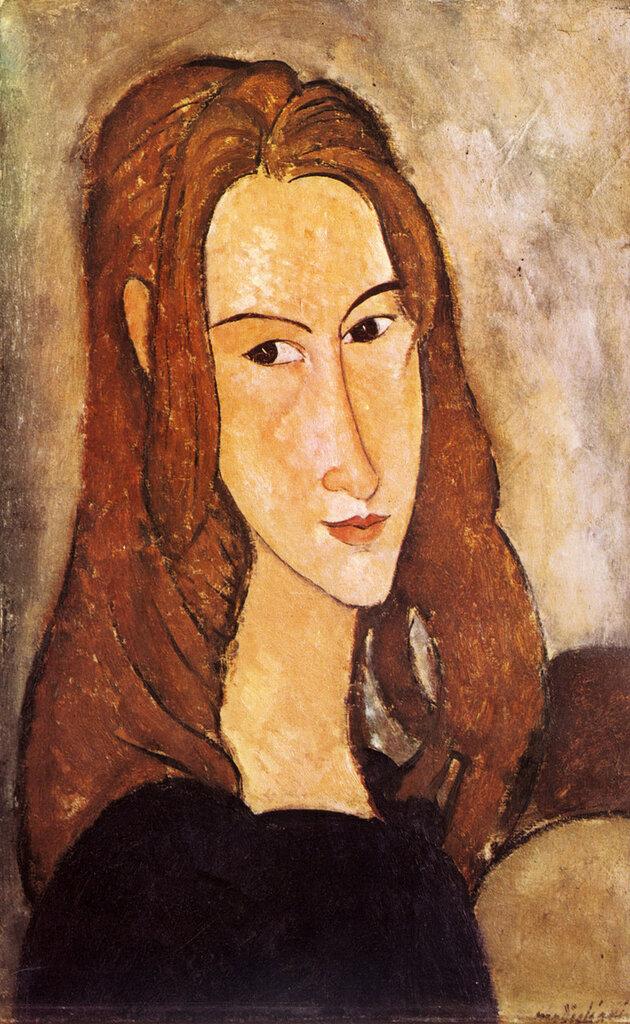 1918 Portrait de Jeanne Nébuterne. 46x29 cm. ParisCollection Particulière.jpg