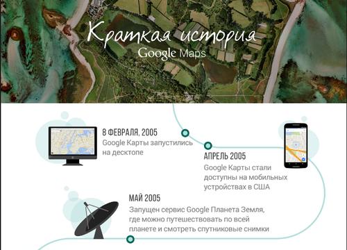 Сервису Карты Google исполнилось 10 лет