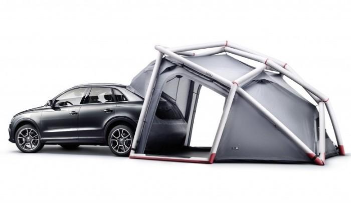 Кроссовер Audi Q3 с палаткой. | Фото: cheatsheet.com. Инженеры Audi «туристический пакет» сделали по