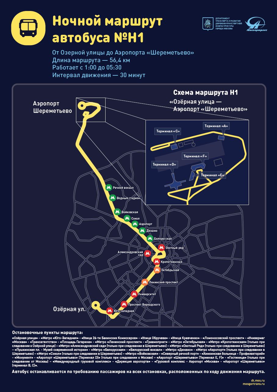 Схема проезда до аэропорта шереметьево на общественном транспорте