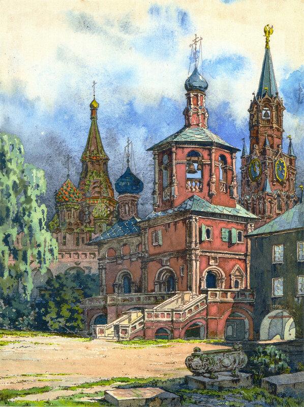 Церковь Михаила Малеина Вознесенского монастыря. 1920-е. Д.П. Сухов. ГНИМА Р1-11985