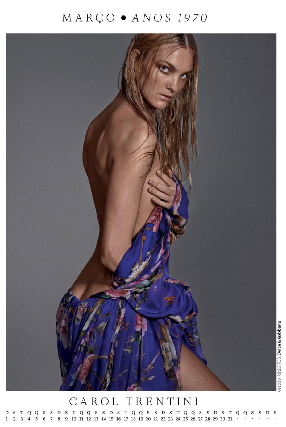 Календарь журнала Vogue Brazil 2015 / Calendar Girl by Zee Nunes - Caroline Trentini / Кэролайн Трентини