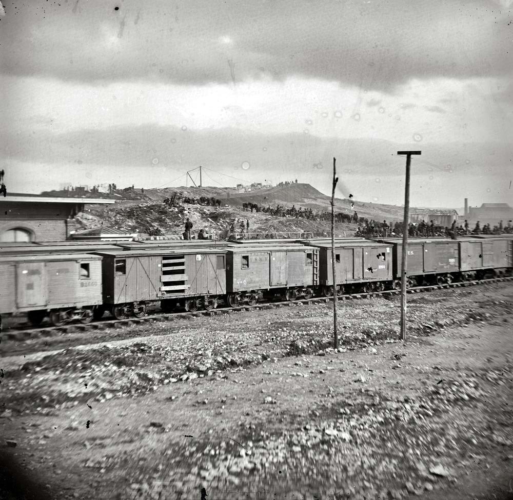 Железные дороги конца 19-го - начала 20-го века на снимках американских фотографов (7)