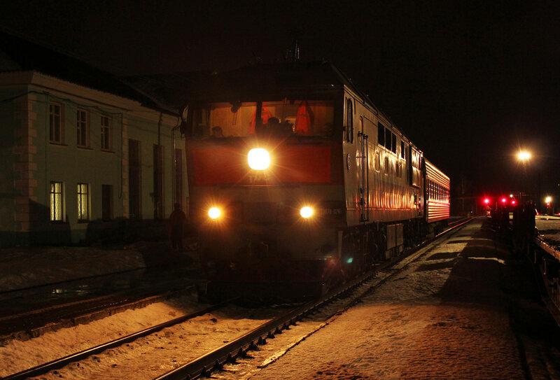 ТЭП70-0246 с пригородным Ржев-2 - Торжок