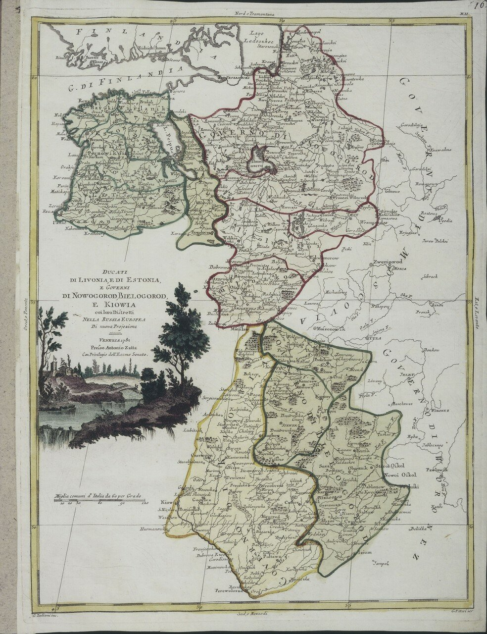 1782. Ливония, Эстония, а так же Новгородская, Белгородская и Киевская губернии Европейской России