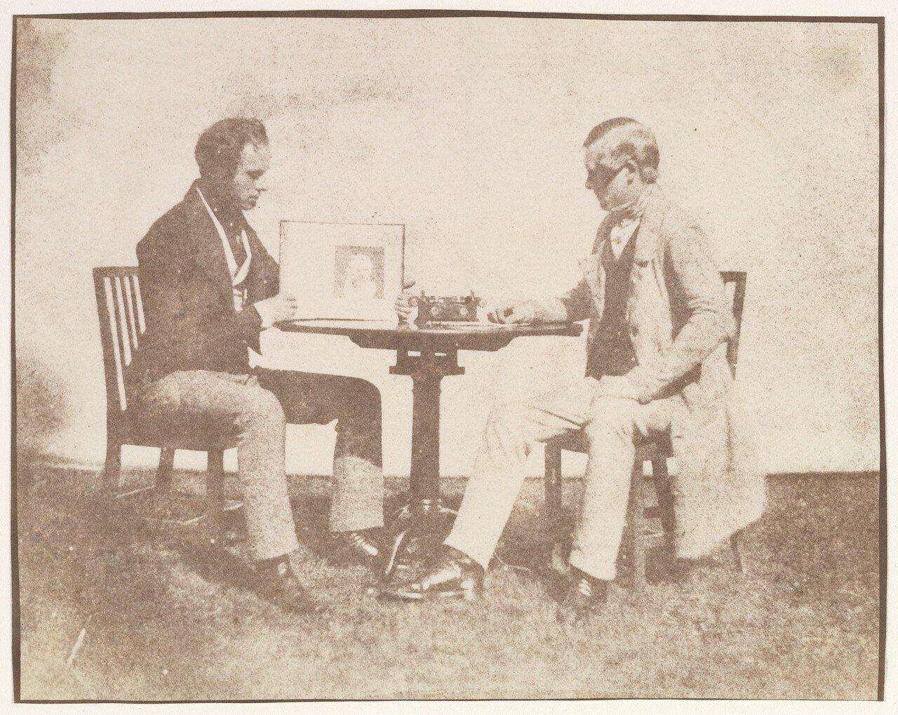 1845. Николаас Хеннеман показывает карандашный рисунок  Чарльзу Портеру