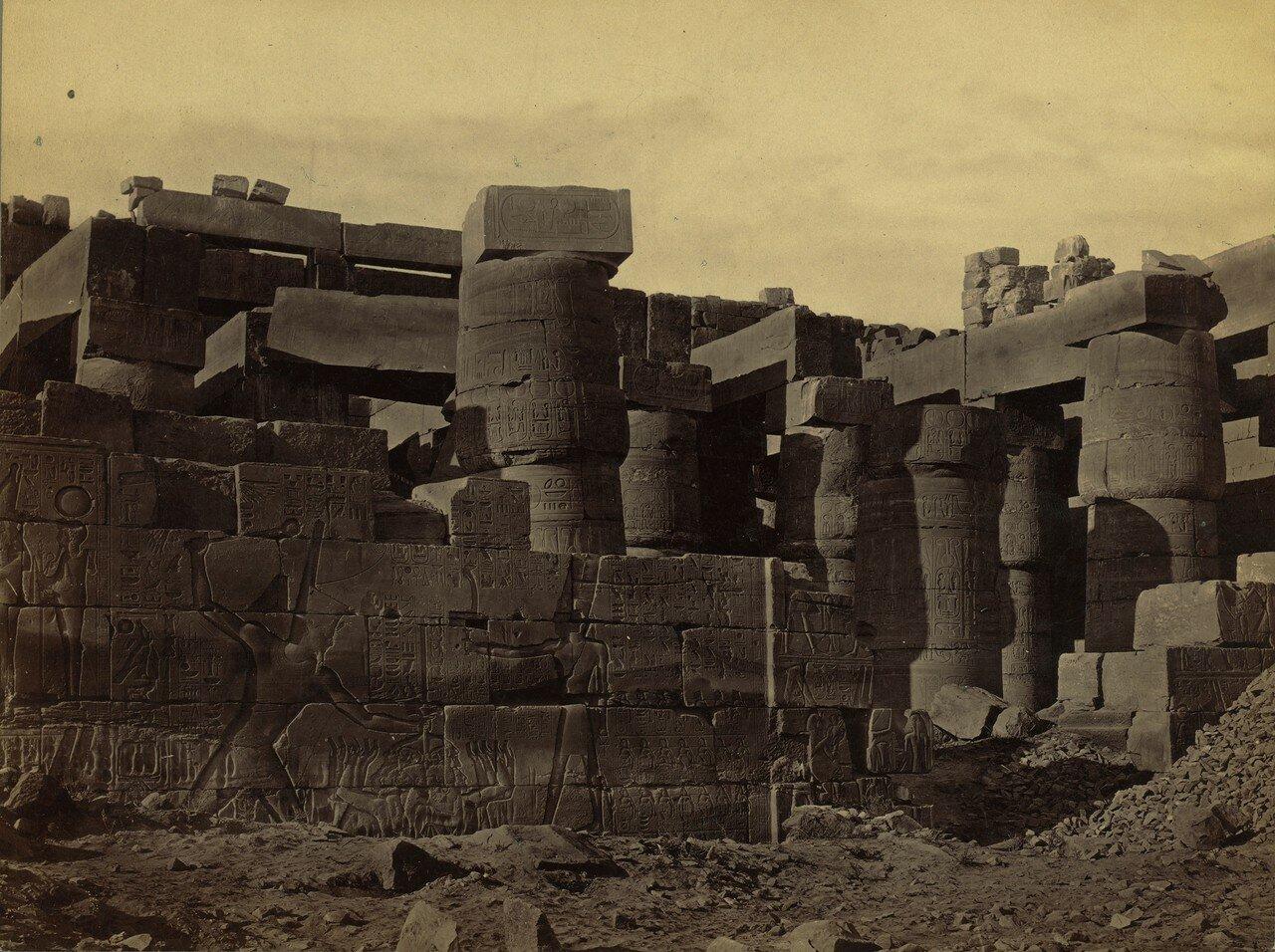 Карнак. Внешний вид Большого зала. 1856