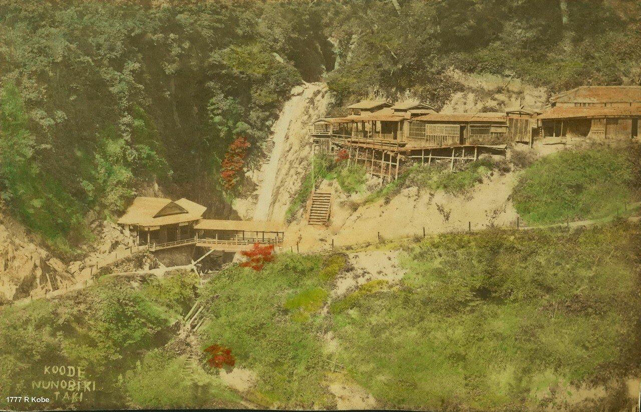 Кобе.  Водопад Нанобики