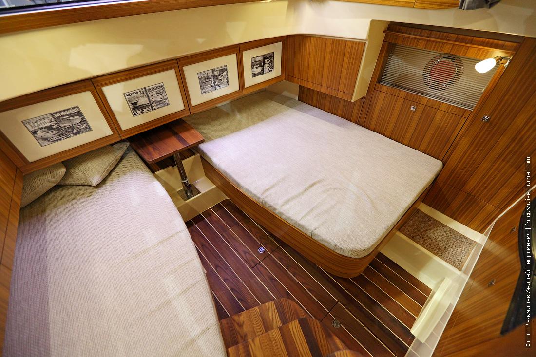 московское боут шоу Marex 370 Aft Cabin Cruiser каюта фото